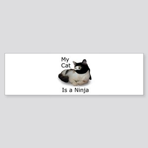 Cat Ninja Bumper Sticker