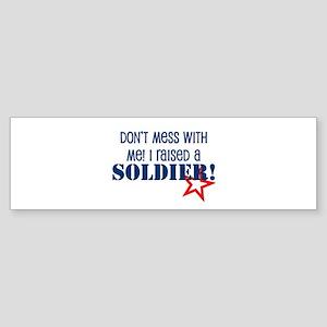 Raised a Soldier Bumper Sticker