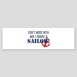 Raised a Sailor Bumper Sticker