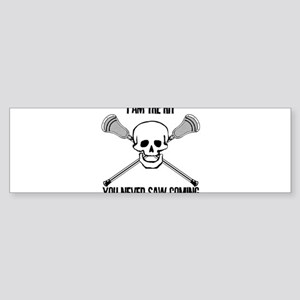 Lacrosse Never Saw Sticker (Bumper)