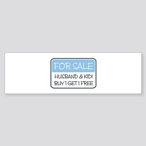 4SALE HUSB/KID (blue) Bumper Sticker