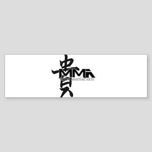MMA Kanji Honor - Black Logo Bumper Sticker