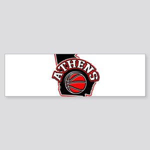 Athens Basketball Bumper Sticker
