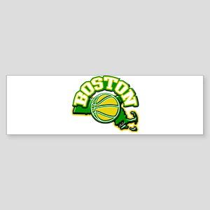Boston Basketball Bumper Sticker