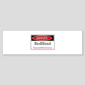 Danger! Red Head! Bumper Sticker