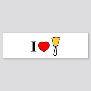 I Heart Bells Sticker (Bumper)
