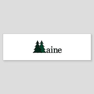Maine Pine Tree Bumper Sticker