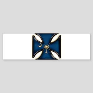 USC Iron Cross w/ Gold Tree Bumper Sticker