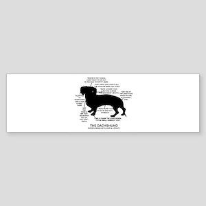 Dachshund Chart Sticker (Bumper)