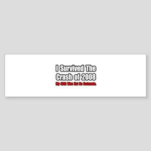 """401k Crash Humor"" Bumper Sticker"