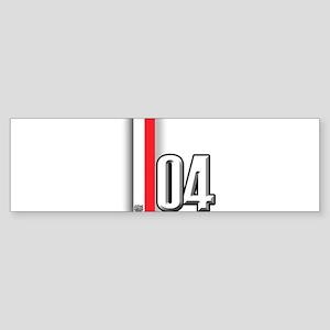 2004 Red White Sticker (Bumper)