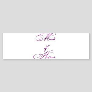 Maid of Honor Sticker (Bumper)