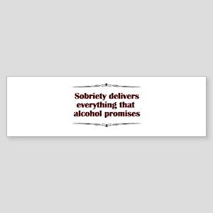 sobriety-delivers Sticker (Bumper)