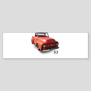 orange truck-no logo Sticker (Bumper)