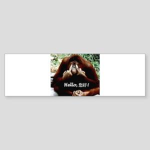 Chinese Funny Ape Sticker (Bumper)