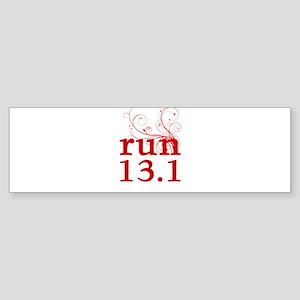 run 13.1 Sticker (Bumper)