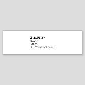 BAMF Sticker (Bumper)