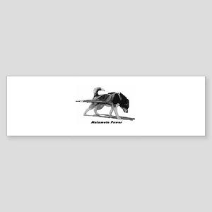 Malamute Power Sticker (Bumper)
