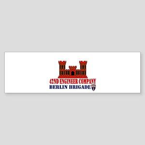 42Eng_10x10_red4 Bumper Sticker
