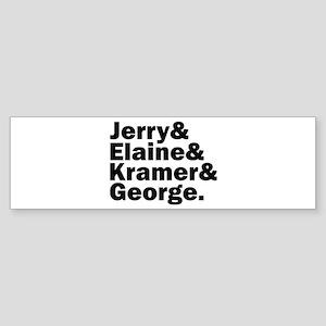 Seinfeld Fab 4 Sticker (Bumper)
