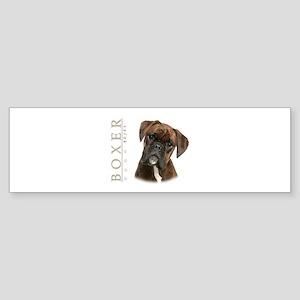 Brindle Boxer Sticker (Bumper)