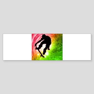 Skateboarder in a Psychedelic Sticker (Bumper)