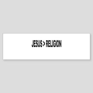 Jesus Greater Than Religion Sticker (Bumper)