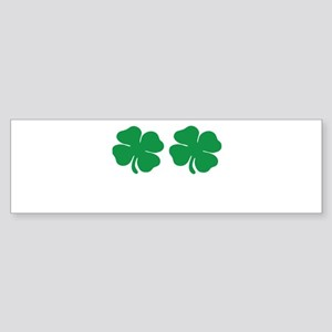 shamrock boobs Sticker (Bumper)