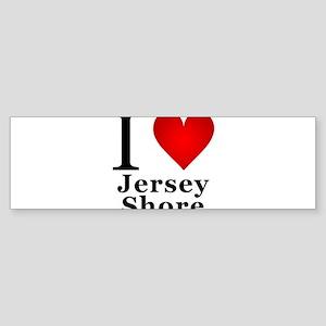 I Love Jersey Shore Sticker (Bumper)