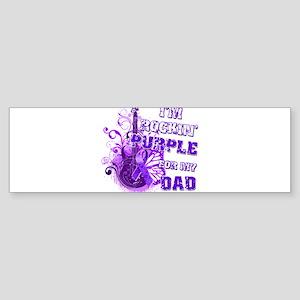 I'm Rockin' Purple for my Dad Sticker (Bumper)
