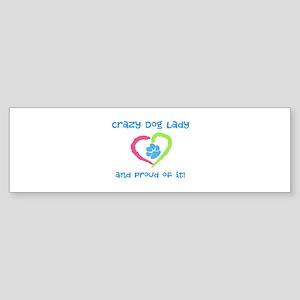 Crazy Dog Lady Sticker (Bumper)