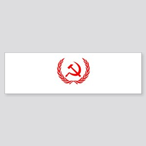 Soviet Wreath Red Sticker (Bumper)