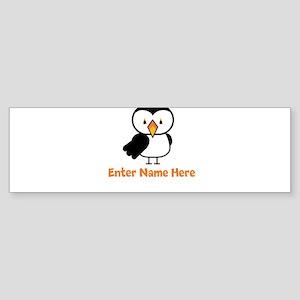 Personalized Puffin Sticker (Bumper)