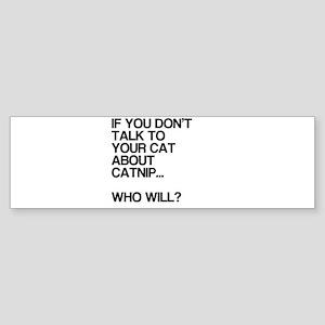 Funny, Catnip, Sticker (Bumper)