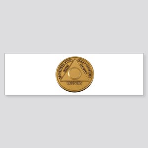 Alcoholics Anonymous Anniversary Chip Bumper Stick