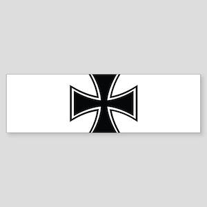 Biker Cross Sticker (Bumper)