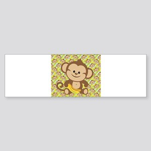 Cute Cartoon Monkey Sticker (Bumper)