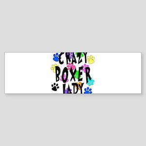 Crazy Boxer Lady Sticker (Bumper)