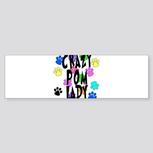 Crazy Pom Lady Sticker (Bumper)