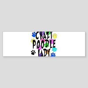 Crazy Poodle Lady Sticker (Bumper)