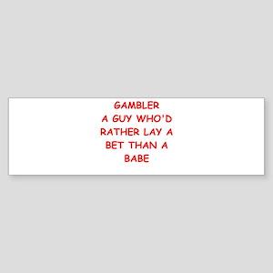 GAMBLER Sticker (Bumper)