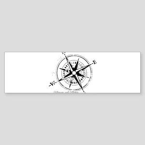 Ring of Fire Graphic Compass Bumper Sticker