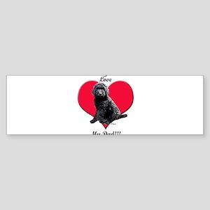 Black Golden Doodle Love Dad Bumper Sticker
