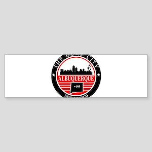 Albuquerque logo black and red Bumper Sticker
