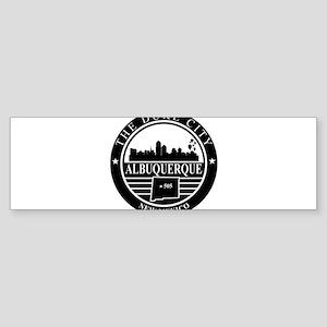 Albuquerque logo black and white Bumper Sticker