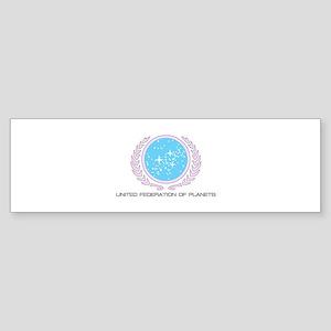 UFP logo pink with an outline Bumper Sticker