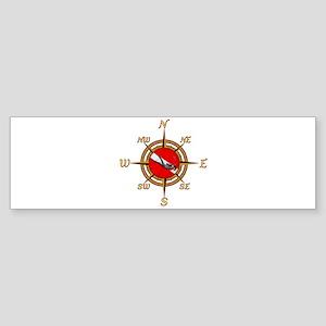 Dive Compass Bumper Sticker