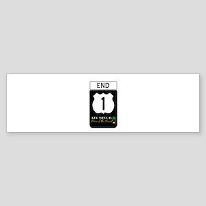Highway 1 Key West Bumper Sticker