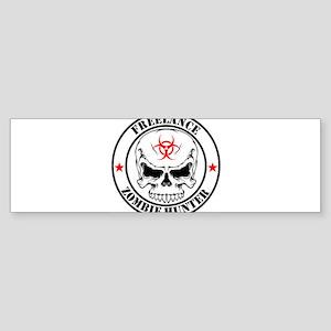 Freelance Zombie Hunter Bumper Sticker