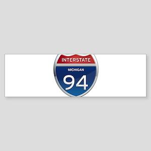Michigan Interstate 94 Bumper Sticker